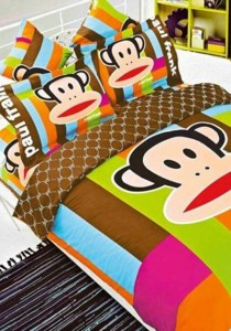 5D Classic Paul Frank Fitted Bedding Set With Quilt Cover (Queen)