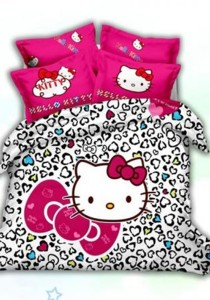 Yanasen Ribbon Hello Kitty 5-in-1 Quilt Cover Set (Queen)
