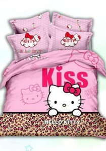 5D Dreamland Hello Kitty Fitted Bedding Set With Quilt Cover (Queen)