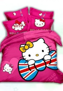 5D Milan Hello Kitty Bedding Set With Quilt Cover (Queen)