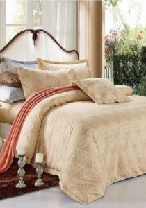 Yanasen 808 Elegant Silk Like Fitted Bedding Set with Quilt Cover (Queen)