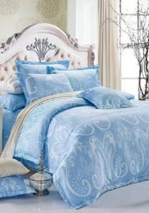 Yanasen 832 Elegant Silk Like Fitted Bedding Set with Quilt Cover (Queen)