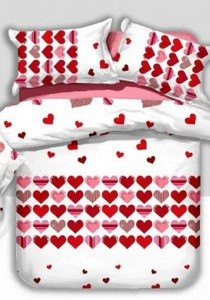 Yanasen Pure Love Design Fitted Bedding Set With Quilt Cover (Queen)