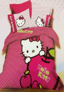 Yanasen Apple Hello Kitty Design Fitted Bedding Set With Quilt Cover (King)