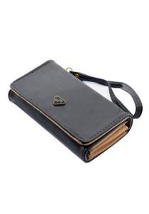 Momorain WM Korea Fashion Synthetic Leather Multipurpose Clutch (Grey)