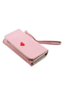 Momorain WM Korea Fashion Synthetic Leather Multipurpose Clutch (Pink)