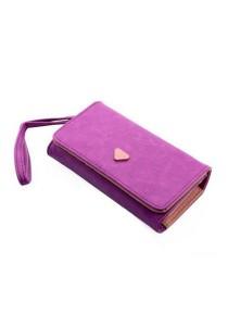 Momorain WM Korea Fashion Synthetic Leather Multipurpose Clutch (Violet)
