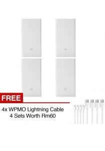 4 Sets Original Xiaomi Power Bank 20000mAh White 20000 Phone Powerbank Slim USB Fast Charging Miband 2 Apple + WPMO High Speed Lightning Cable