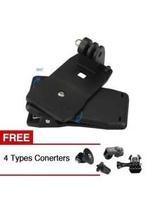 Sport Camera Accessories 360 Degree Rotating Bag Clip Mount Fit For GoPro Xiaomi Yi SJCAM Sport Cameras + Free 4 Converters