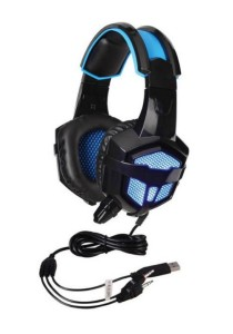 SADES SA-738 Lightweight Headset + Gaming Earphone with USB and 3.5mm Stereo (Blue/Black)