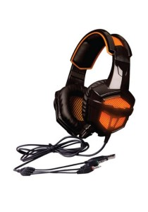 SADES SA-738 Lightweight Headset + Gaming Earphone with USB and 3.5mm Stereo (Orange and Black)