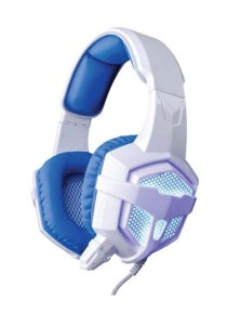 SADES SA-738 Lightweight Headset + Gaming Earphone with USB and 3.5mm Stereo (White and Blue)