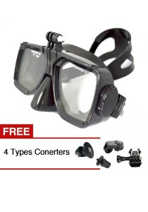 Scuba Diving Mask Equipment For GoPro HD Hero 2 3 3+ 4 Yi Action Camera + Free 4 Types Converters