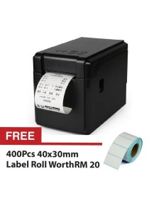 GPRINTER 2-In-1 GP2120TF Label Barcode Printer Thermal 58mm Clothing Receipt Roll + Free 400pcs 4030 Labell Roll