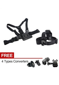 Xiaomi Xiaoyi Yi Gopro Sport Action Camera Chest Head Clip Strap Mount Holder Set