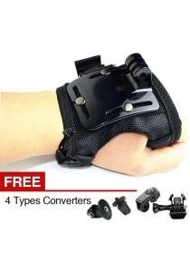 Xiaomi Xiaoyi Yi Gopro Sport Action Camera Palm Mount Clip Strap Mount Holder Set