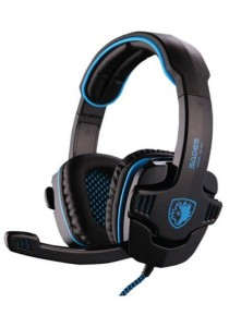 SADES SA-901 Gaming Headset with USB Band Noise Cancelling Function (Black & Blue)