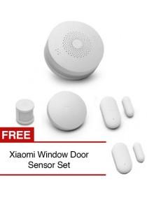 Xiaomi Smart Home Security Gateway 2 Wireless Sensors Set Multi Function Home Kit + Wireless Switch + Human Body Sensor + Door Window Sensor + Free Smart Door Window Sensor