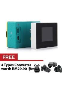 Xiaomi Yi Sports Camera Accessories Set External Battery + External Screen LCD + Waterproof Case + FREE Action Camera Converter Set