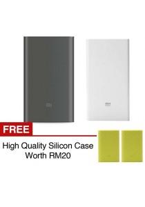 Xiaomi Mi Powerbank 10000mAh Pro 20000mAh Slim Type C USB Fast Charging Power Bank Miband 2 Apple + Silicon Case Green