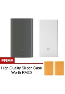 Xiaomi Mi Powerbank 10000mAh Pro 20000mAh Slim Type C USB Fast Charging Power Bank Miband 2 Apple + Silicon Case Orange