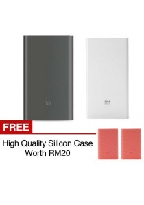 Xiaomi Mi Powerbank 10000mAh Pro 20000mAh Slim Type C USB Fast Charging Power Bank Miband 2 Apple + Silicon Case Red