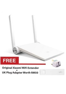 Original Xiaomi Mini WiFi Router 11AC WiFi Roteador 2.4G/5G Universal Mi Repeater 1167Mbps USB Smart APP Control White + Free Xiaomi USB WiFi Extender + UK Plug Adapter
