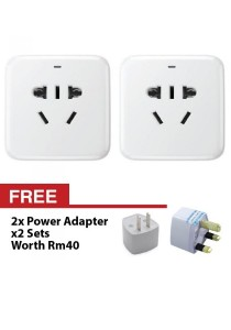 Xiaomi Smart Intelligent WiFi Plug Power Wireless Control Socket Remote Adaptor Basic Version With EU/AU/UK/US Adapter (White) + FREE US AU Plug Converter