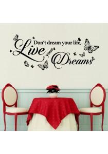 Walplus Dream Quote Wall Stickers