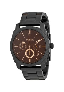Fossil Machine Chronograph Black Stainless Steel Men's Watch FS4682