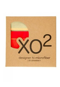 XO2 Hi-Microfiber for iPad Camera Laptop Eye Glasses Handkerchief (Chic Stripe Orange)