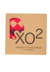 XO2 Hi-Microfiber for iPad Camera Laptop Eye Glasses Handkerchief (Classic Check Red)