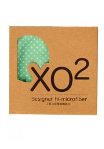 XO2 Hi-Microfiber for iPad Camera Laptop Eye Glasses Handkerchief (Firty Polka Dot Green)