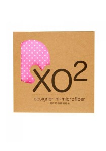 XO2 Hi-Microfiber for iPad Camera Laptop Eye Glasses Handkerchief (Firty Polka Dot Pink)