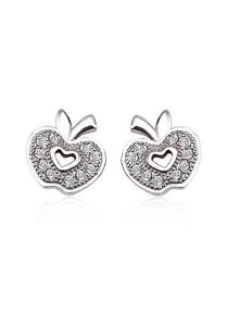 OUXI 925 Sterling Silver Apple Earrings