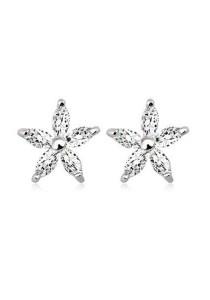 OUXI 925 Sterling Silver Cymbidium Orchid Earrings