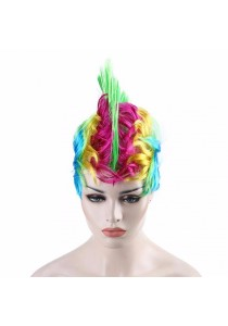 Fashion Multicolor Cockscomb Wig with Breathable Hairnet