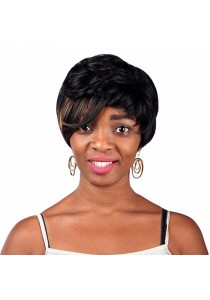 Fashion Natural Women Short Fluffy Bangs Side Fringe Hair Wig