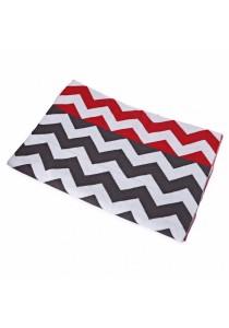 Fashion Printed Baby Cotton Water Uptake Blanket / Bath Towel (Red + Wavy Stripe)