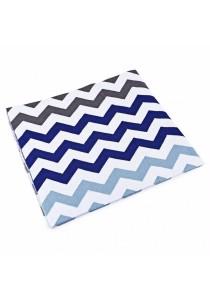 Fashion Printed Baby Cotton Water Uptake Blanket / Bath Towel (Blue + Wavy Stripe)