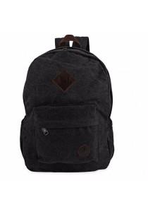 Fashion Retro Backpack Rucksack Laptop Shoulder Travel Camping Bag (Black)