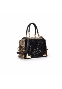 Fashion Style Sequins and Leopard Print Design Women's Tote Bag