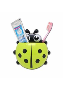 Howstore LadyBug Bathroom Storage Suction Cup Toothbrush Holder