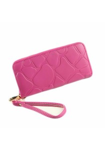 Women PU Leather Zipper Long Wallet B7617