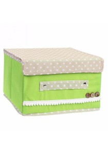 Multifunction Foldable Storage Box Green 2 pieces