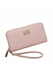 Women PU Leather Korea Design Long Wallet B8615
