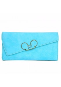 Women Trifold Matte Long Wallet B9505