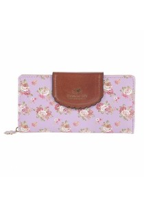 Women's Vintage Floral Flower Zip Wallet