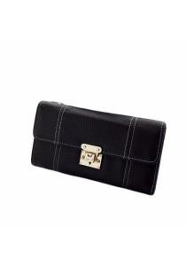 Women Simple Trifold Long Wallets Clutch