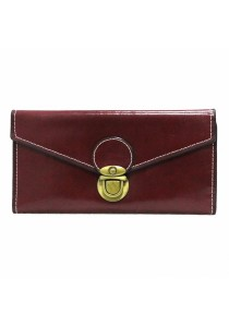 Women Retro Simple Long Wallet Envelope Clutch Trifold Purse B9804